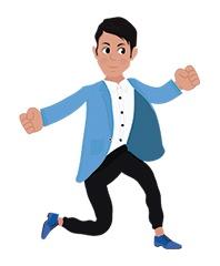 Josh character running