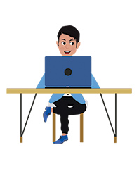 Josh character computer