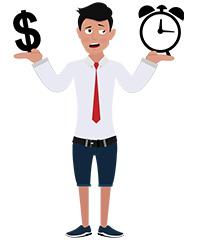 jim character managing time