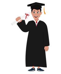 jim character student graduated