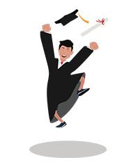 jim character graduation jump