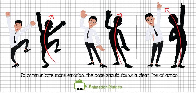 poses that follow a clear line of action