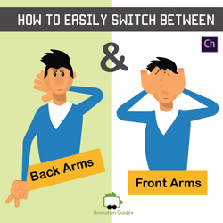 switching between front and back arms adobe character animator