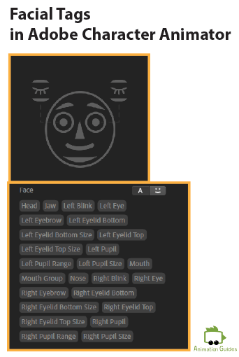 Adobe Character Animator Naming Facial Tags