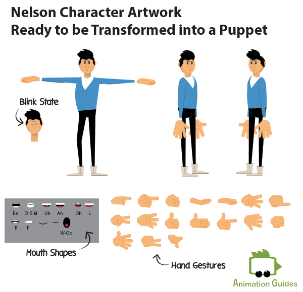 Pre-made character design Adobe puppet