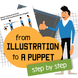 converting illustration into puppet Adobe Character Animator