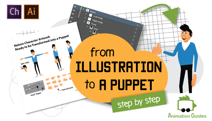 from illustration to Adobe puppet guide