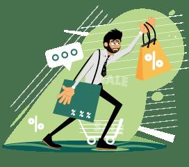 Rogerio illustration shopping
