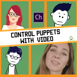 control puppets with video
