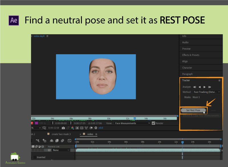rest pose for face tracker in ae