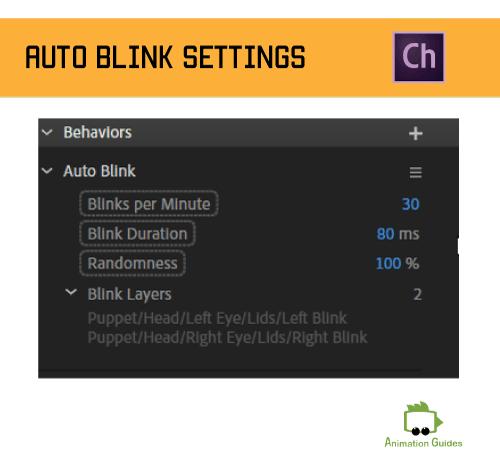 auto blink behavior in adobe character animator
