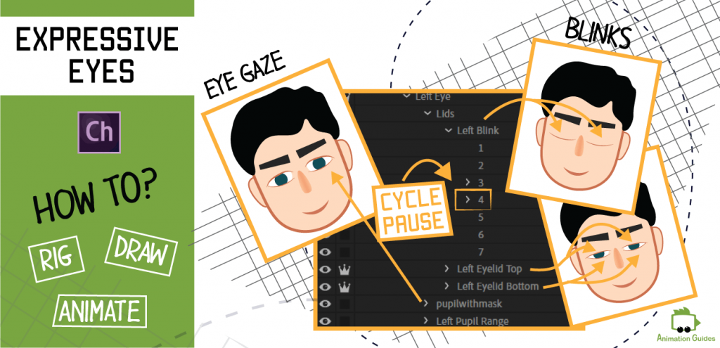 how to rig and animate expressive eyes in adobe character animator