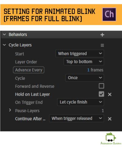 setting for full animated blink in adobe character animator