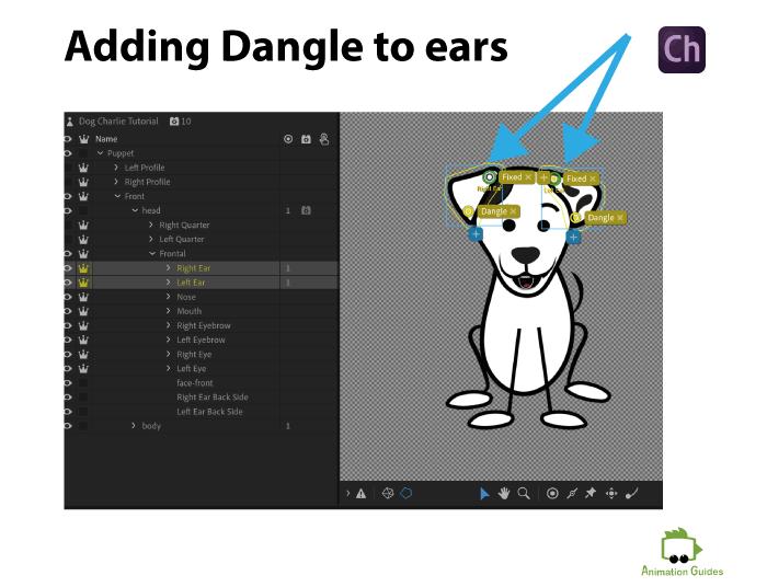 dangle ears for dog puppet