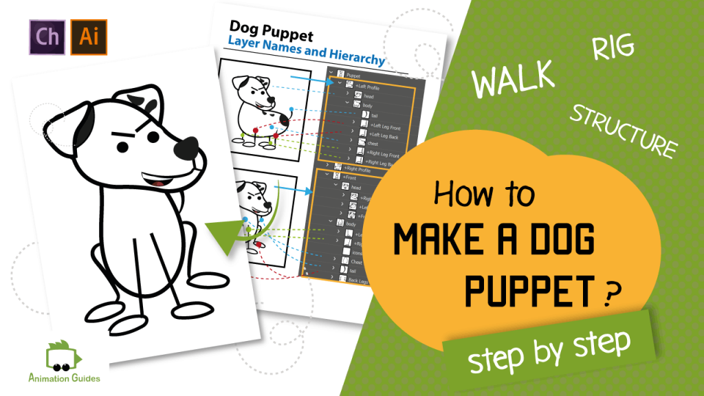 how to make a dog puppet in adobe character animator