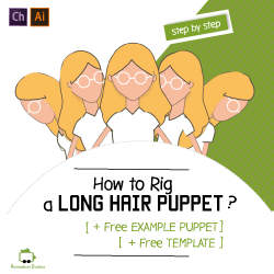 how to rig a long hair puppet in adobe character animator