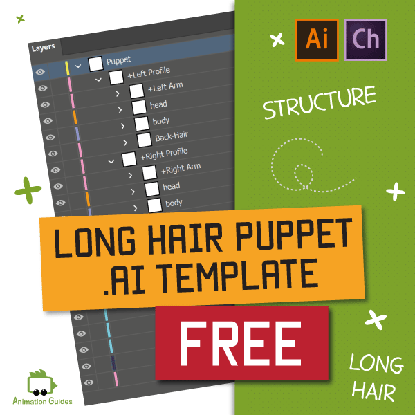 long hair puppet template free download