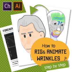 How Can You Create Animated Facial Wrinkles Automatically in Adobe Character Animator?