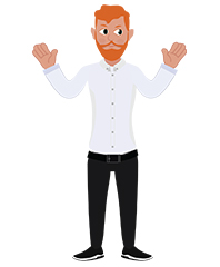 animationguides character david hands up