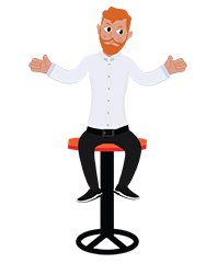 animationguides character david sitting on a bar chair