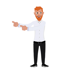 animationguides character david pointing left