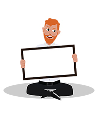 animationguides character david with note