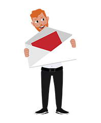 animationguides character david with envelope