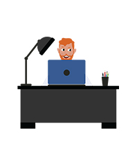 animationguides character david with laptop