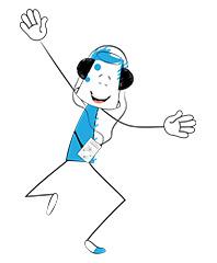 BucketJo character dancing