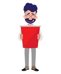 Jeremy character with red paper