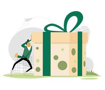 Amos Illustration big gift