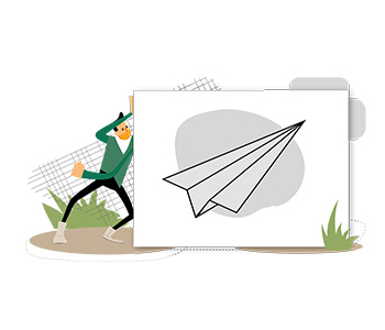 Amos Illustration paper plane