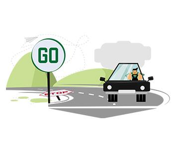 Amos Illustration auto drive