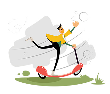 Amos Illustration scooter