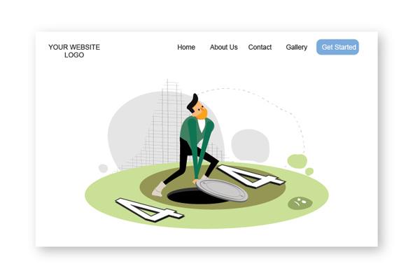Amos Illustration 404 page