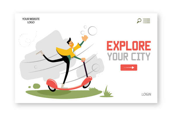 Amos Illustration explore your city