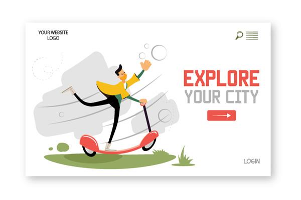 Amos Illustration explore your city