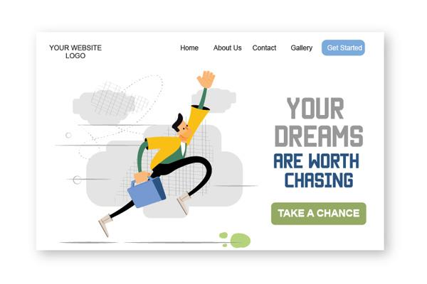 Amos Illustration your dreams worth chasing