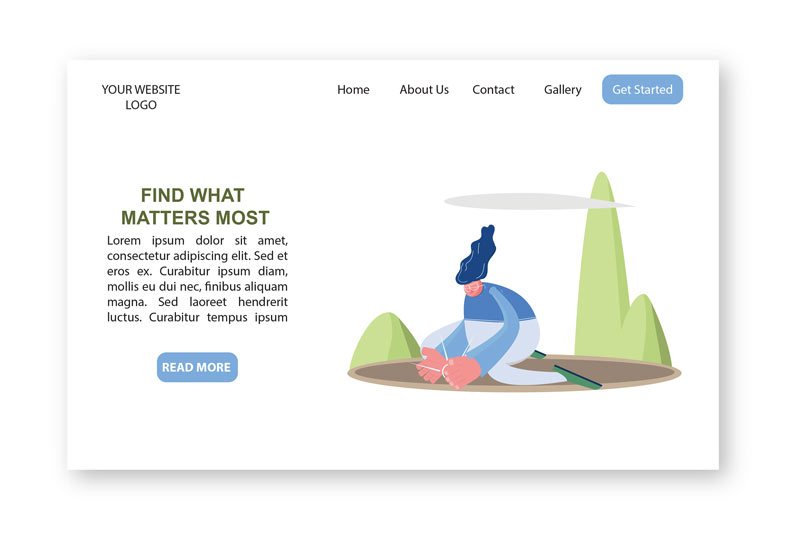 Elliott Illustrations Pack web examples