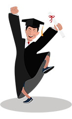Jim illustrations graduated excited