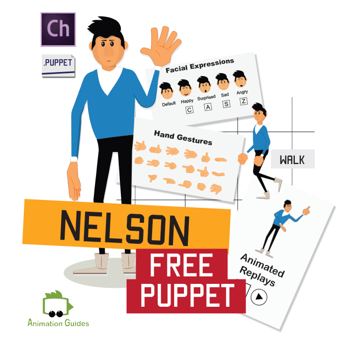 Nelson adobe character puppet free