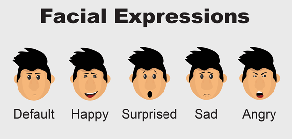 Nelson character puppet facial expressions