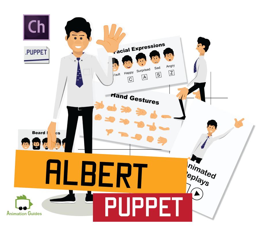 Albert adobe character animator puppet