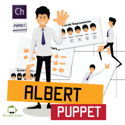 Albert Puppet for Adobe Character Animator