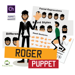 Roger character animator puppet animated replays