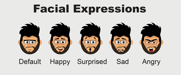 Roger character animator puppet facial expressions