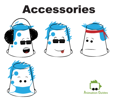 facial accessories for bucketjo free puppet