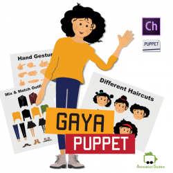 Gaya Female Puppet for Adobe Character Animator