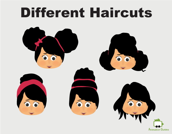 Mia puppet different haircuts