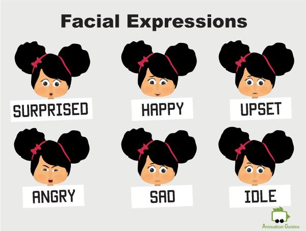 Mia puppet facial expressions